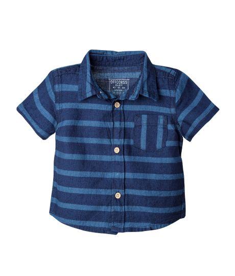 Camisa-Ropa-recien-nacido-nino-Indigo-oscuro