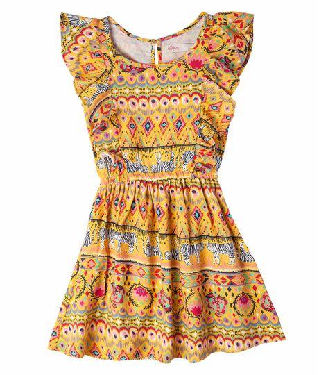 Vestido-Ropa-nina-Amarillo