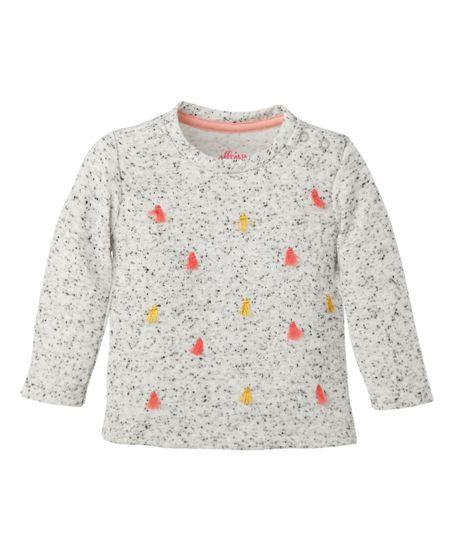 Camiseta-Ropa-recien-nacido-nina-Gris