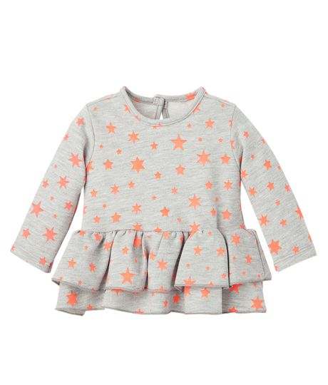 Camiseta-Ropa-recien-nacido-nina-Naranja
