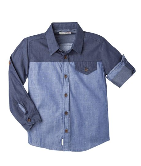 Camisa-Ropa-bebe-nino-Azul