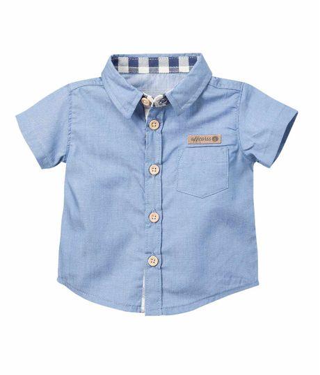 Camisa-manga-corta-Ropa-recien-nacido-nino-Azul