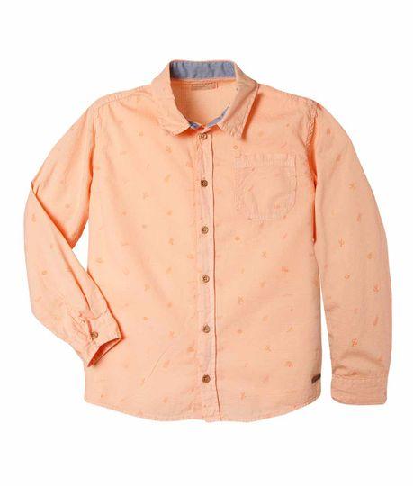 Camisa-manga-larga-Ropa-nino-Naranja