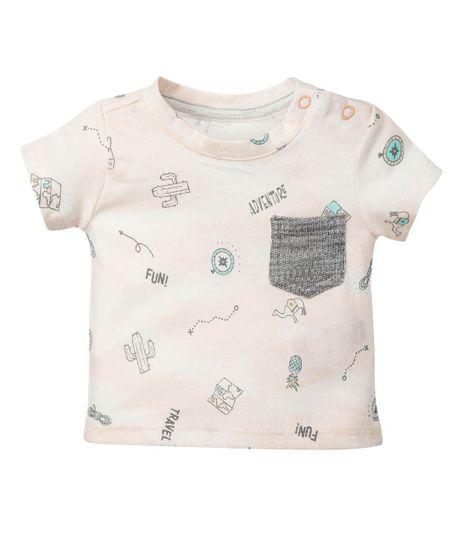 Camiseta-manga-corta-Ropa-recien-nacido-nino-Naranja