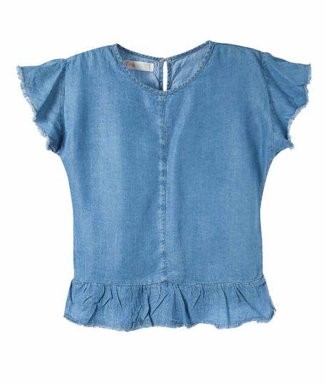Camisa-manga-corta-Ropa-nina-Indigo-claro