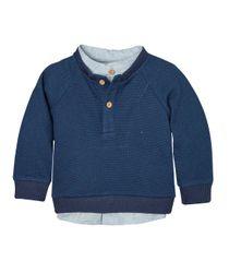 Camiseta-manga-larga-Ropa-recien-nacido-nino-Azul