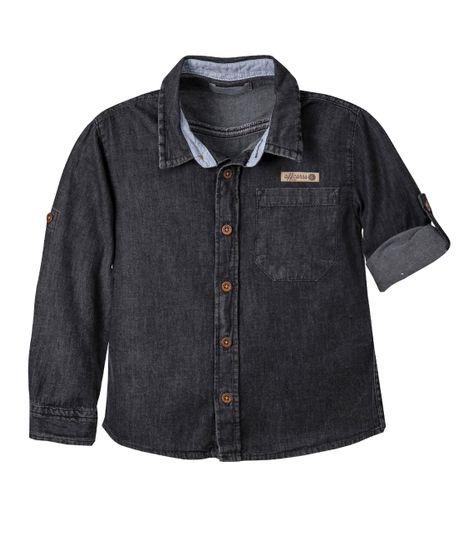 Camisa-manga-larga-Ropa-bebe-nino-Indigo-oscuro