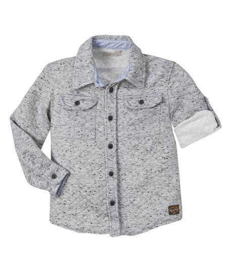 Camisa-manga-larga-Ropa-bebe-nino-Gris-jaspe