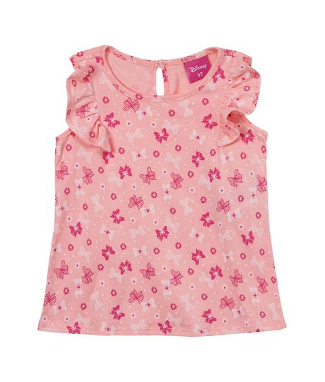 Camiseta-manga-corta-Ropa-bebe-nina-Rojo