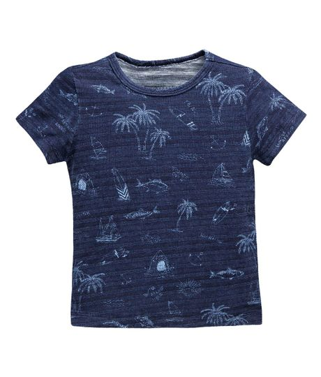 Camiseta-manga-corta-Ropa-bebe-nino-Indigo