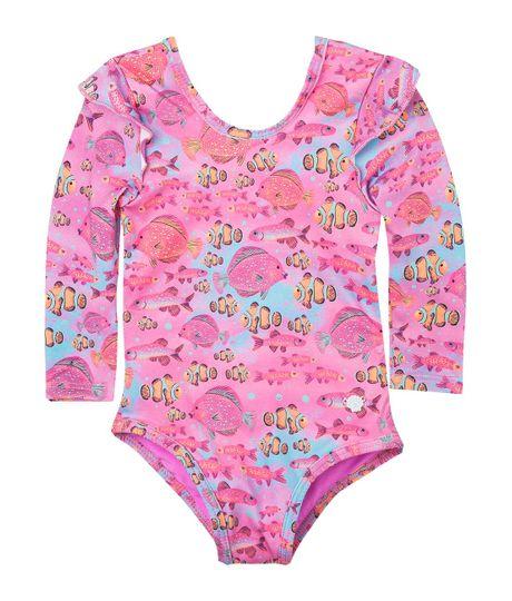 Vestido-de-baño-Ropa-bebe-nina-Morado