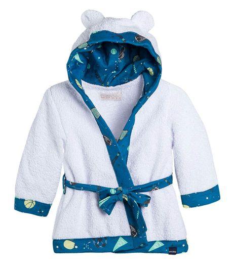 Kimono-tela-toalla-Ropa-recien-nacido-nino-Azul