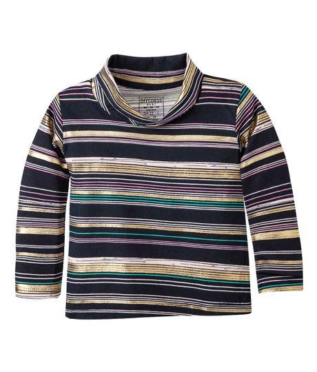 Camiseta-cuello-tortuga-Ropa-bebe-nina-Azul