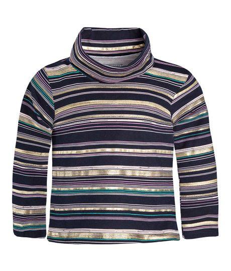 Camiseta-cuello-tortuga-Ropa-nina-Azul