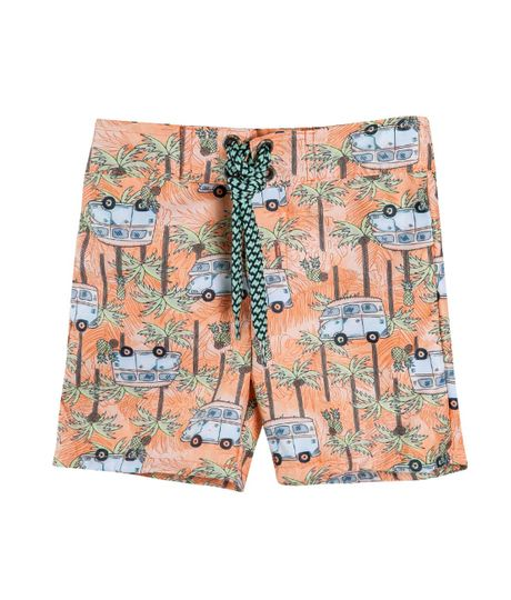Pantaloneta-de-baño-Ropa-recien-nacido-nino-Naranja