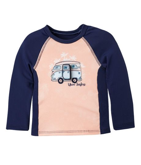 Camiseta-de-playa-Ropa-recien-nacido-nino-Naranja