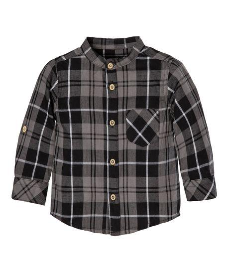 Camisa-manga-larga-Ropa-recien-nacido-nino-Negro