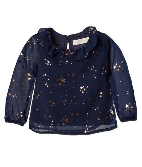 Camisa-manga-larga-Ropa-bebe-nina-Azul