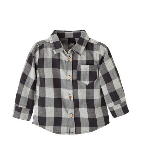 Camisa-manga-larga-Ropa-recien-nacido-nino-Gris