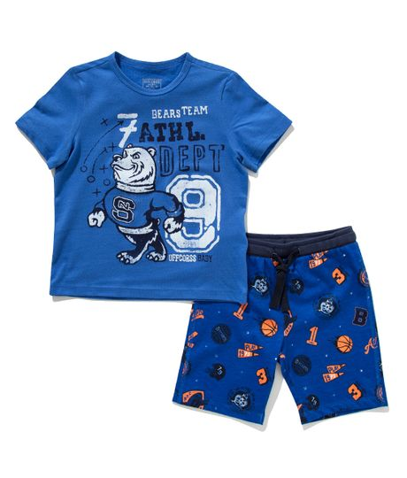 Pijama-manga-corta-Ropa-bebe-nino-Azul
