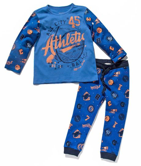 Pijama-manga-larga-Ropa-bebe-nino-Azul