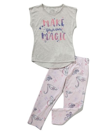 Pijama-manga-corta-Ropa-nina-Gris