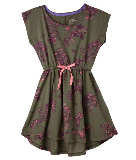 Vestido-manga-corta-Ropa-nina-Verde
