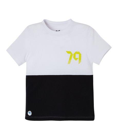 Camiseta-deportiva-Ropa-bebe-nino-Blanco