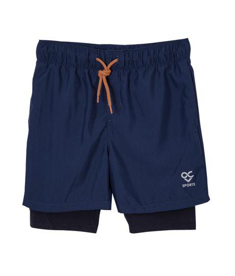 Pantaloneta-deportiva-Ropa-nino-Azul