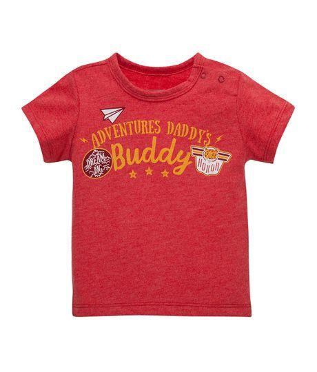 Camiseta-manga-corta-Ropa-recien-nacido-nino-Rojo