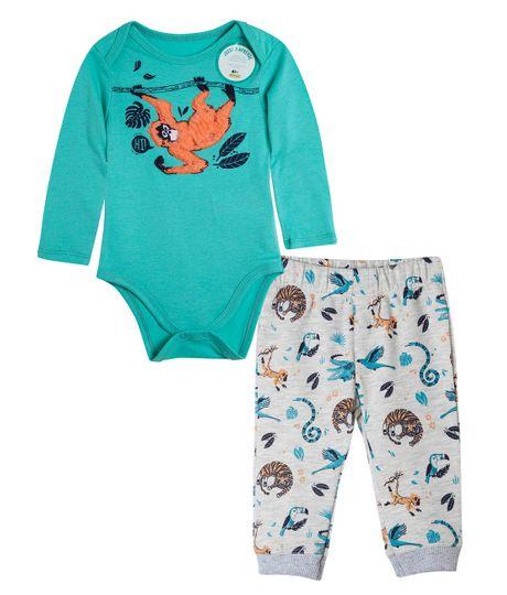 Pijama-estimulante-Ropa-recien-nacido-nino-Verde