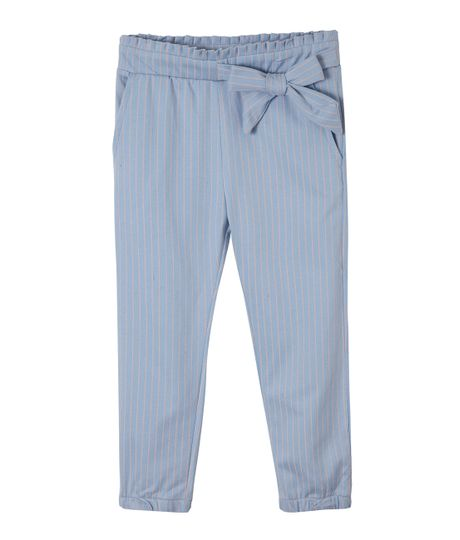 Pantalon-silueta-chino-Ropa-bebe-nina-Azul