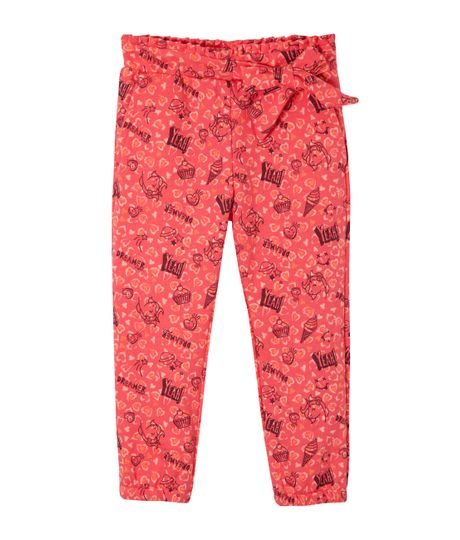 Pantalon-silueta-chino-Ropa-bebe-nina-Rojo
