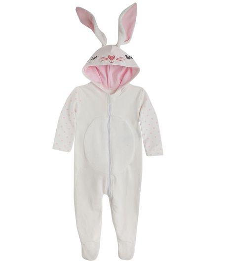 Pijama-de-conejo-Ropa-recien-nacido-nina-Gris