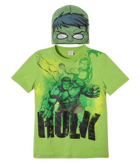 Camiseta---gorro-de-superheroe-Ropa-nino-Verde