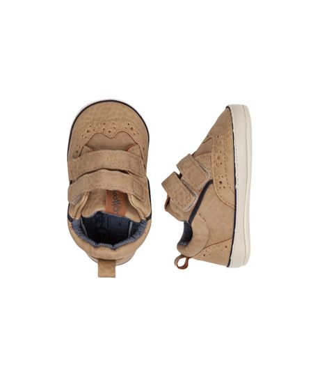 Zapatos-cosidos--Ropa-recien-nacido-nino-Cafe