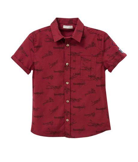 Camisa-manga-corta-Ropa-nino-Rojo