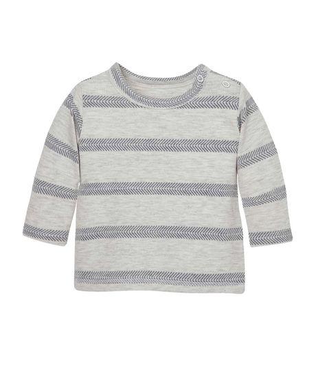 Camiseta-manga-larga-Ropa-recien-nacido-nino-Gris