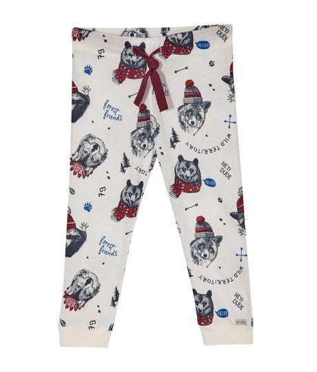 Pantalon-de-pijama-Ropa-bebe-nino-Blanco