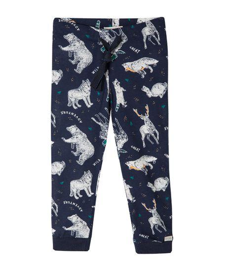 Pantalon-de-pijama-Ropa-bebe-nino-Azul