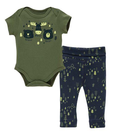 Pijama-Ropa-recien-nacido-nino-Verde