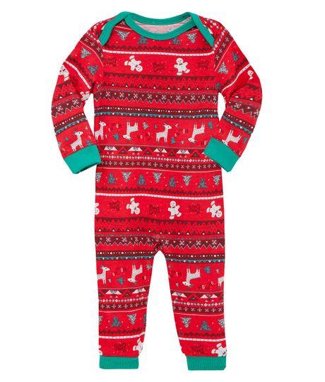 Pijama-enterizo-Ropa-recien-nacido-nino-Rojo