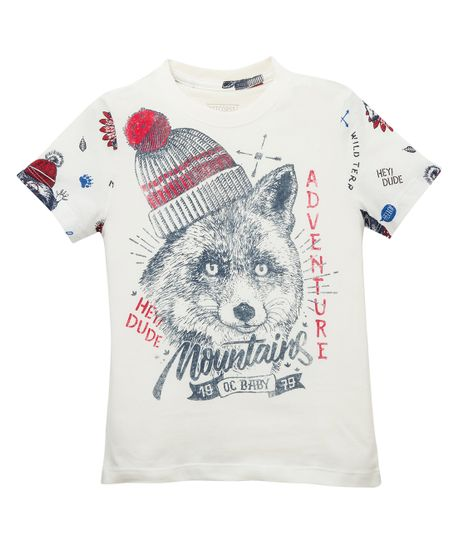 Camiseta-de-pijama-Ropa-bebe-nino-Blanco