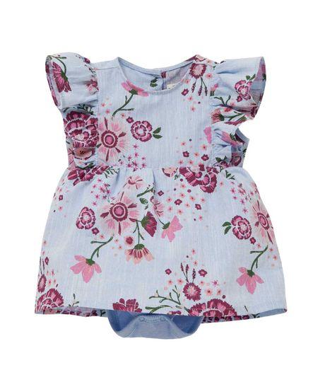 Vestido-manga-corta-Ropa-recien-nacido-nina-Morado