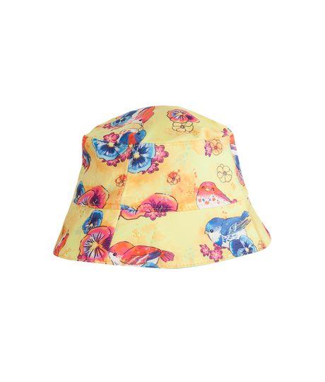 Sombrero-doble-faz-Ropa-recien-nacido-nina-Amarillo