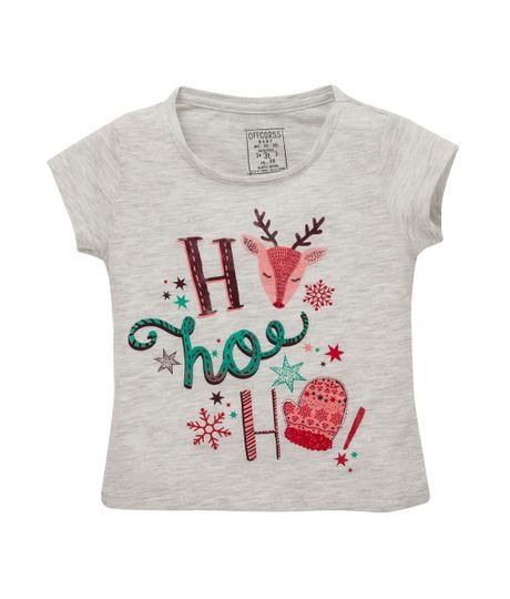 Camiseta-manga-corta-Ropa-bebe-nina-Gris