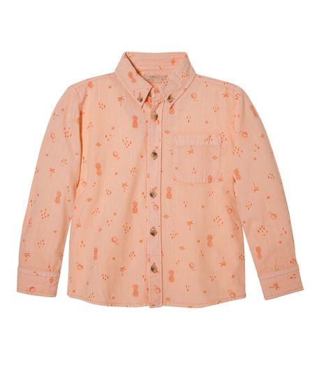 Camisa-manga-larga-Ropa-bebe-nino-Naranja