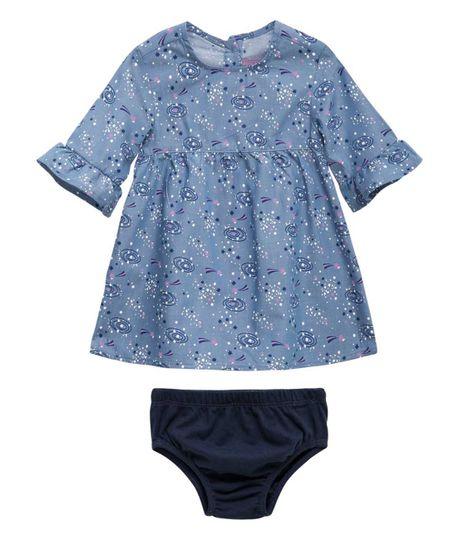 Vestido-manga-3-4-Ropa-recien-nacido-nina-Indigo-medio