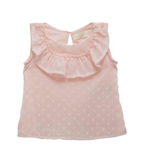 Camisa-manga-corta-Ropa-recien-nacido-nina-Rosado
