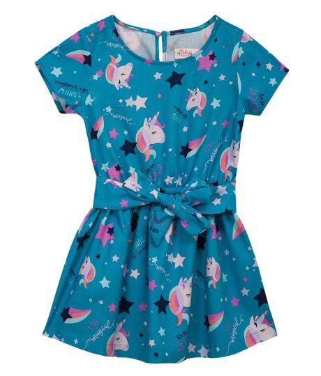 Vestido-manga-corta-Ropa-bebe-nina-Azul